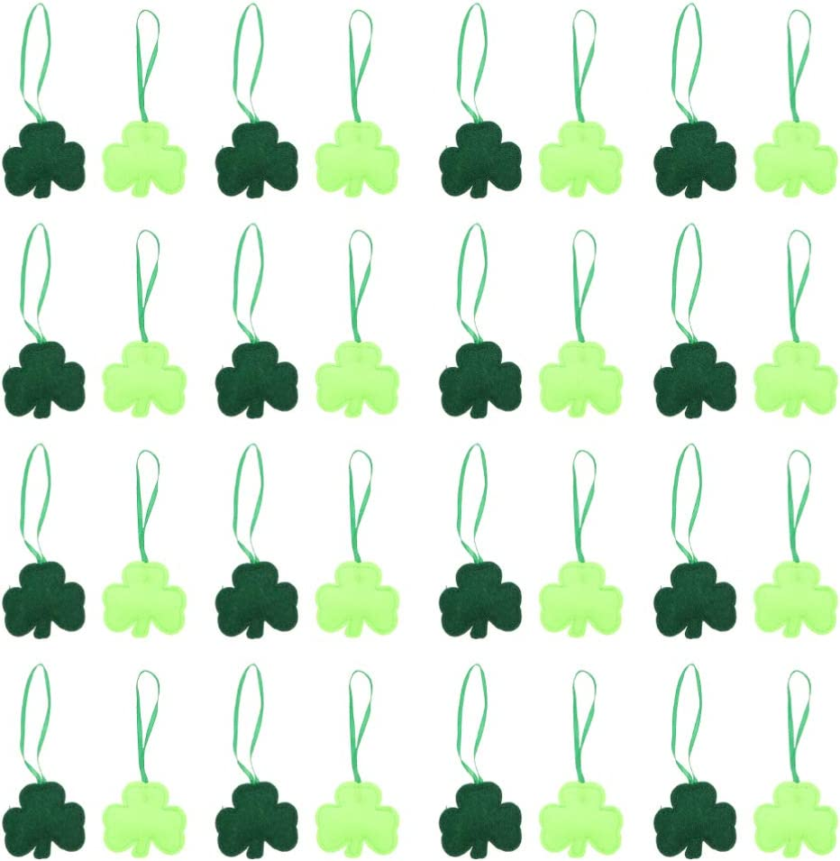 NUOBESTY Outlet ☆ Free Shipping 48pc St. Patricks Free Shipping New Day Shamrocks L Ornament Hanging Good