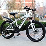 Nerioya Mountain Bike/Student Adult Variable Speed Dual Disc Brake Shock Absorption 20 Inch-26 Inch Mountain Bike,A,22in
