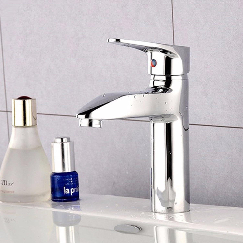 LHbox Bad Armatur in Bad für Waschbecken Waschtisch Wasserhahn Waschtischarmatur Das eherne Waschbecken, heies und Kaltes Wasser Waschbecken Mixer Einloch Mischbatterie