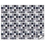 Pegatinas de Azulejos de Mosaico, 20 Piezas 3D Pegatinas de Pared de Mosaico Autoadhesivas Pegatinas para Azulejos Impermeables para Baño, Cocina, Decoración del Hogar(20 x 20 cm)