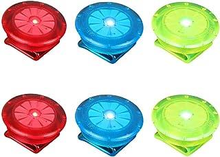 LIOOBO LED Sicherheitslicht Clip für Läufer Hunde Fahrräder Kinderwagen 6 Stück Rot Blau und Grün