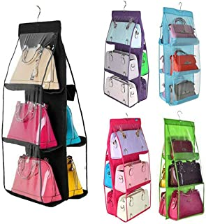 SUPRIQLO 6 Pocket Dustproof Cover Hanging Bag Storage Double-Sided Sorting Organizer Packing Organizers