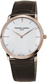 Frederique Constant Slimline White Dial Leather Strap Men's Watch FC200V5S34