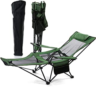 Folding Camping Chair Recliner and Lounge Chair, Ultralight Portable for Sports Picnic Beach, Bring You The Best Sitting E...