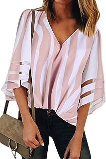 TIMEE Women's Sexy Sheer Long Sleeve Chiffon Blouses Tops Button Down Shirts S-XXL