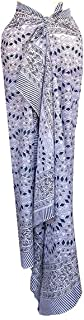 100% Cotton Hand Block Print Sarong Womens Swimsuit Wrap Cover Up Long (73