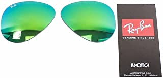 c5bfdcf87eb6d Ray Ban RB3025 3025 RayBan Sunglasses Replacement Lens FlashMirror Green  Size-62