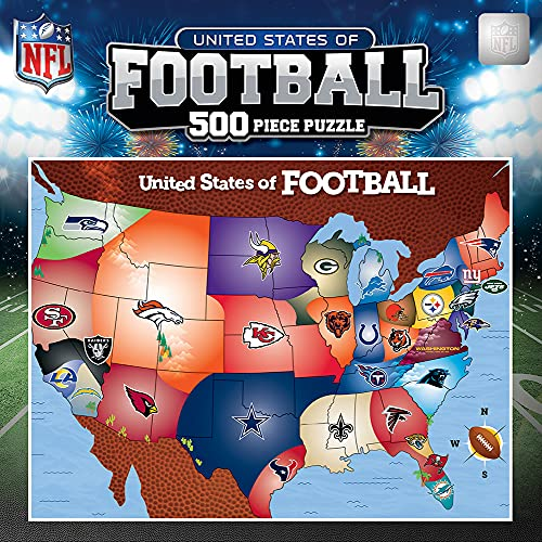 MasterPieces Licensed Standard Puzzles Collection - NFL Football Map 500 Piece Jigsaw Puzzle