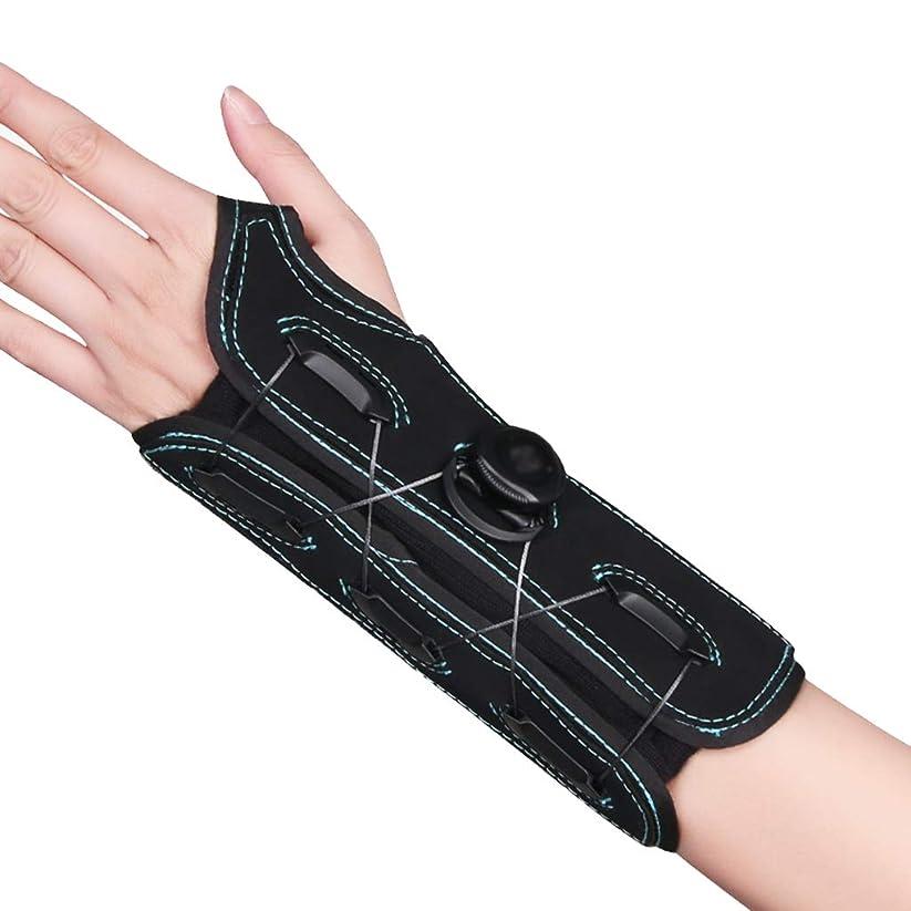 ぜいたくバレル労苦腱炎リストバンド、手根管用の手首ブレース、手首の痛み、スポーツは男性と女性の右手と左手の両方に適合、黒-小/中