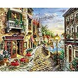 QNZOR Pintar por Números Adultos Lienzo Niños DIY Pintura al óleo 40x50cm Costa Dorada Apto Principiantes FáCil de Operar Pintura sobre DecoracióN del Hogar