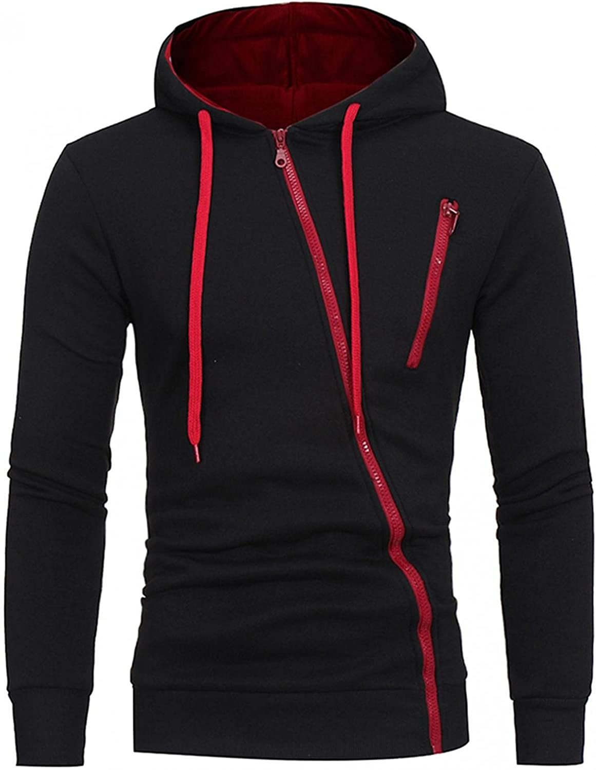 Aayomet Hoodies Sweatshirts for Men Fashion Solid Tops Zipper Long Sleeve Workout Athletic Hooded Pullover Blouses