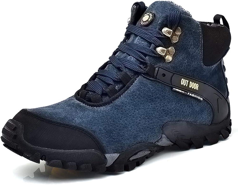 Men's High Rise Waterproof Hiking Boots Lightweight Trekking Walking shoes Non Slip Mountain Climbing Ankle Boots Outdoor Explorer Sneakers