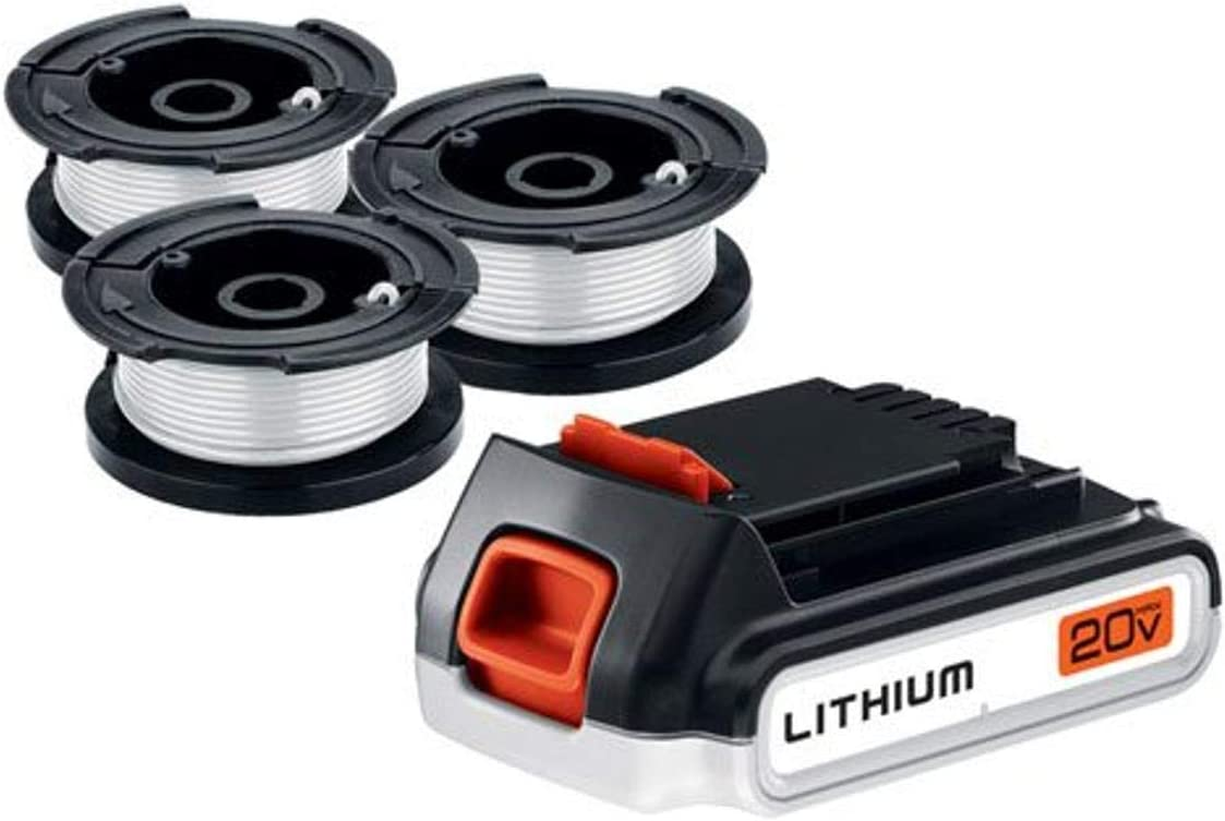 BLACK+DECKER 20V Recommendation Overseas parallel import regular item MAX Battery with Spool 2.0-Ah AFS-100 3-Pack