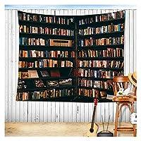 偽の本棚の図書館の本棚のタペストリーの壁の生地の背景の装飾ヴィンテージヨーロッパのぶら下がっている壁のタペストリー (Color : 11, サイズ : 150x200cm)