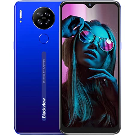 Cellulari Offerte,Blackview A80S Smartphone Offerta del Giorno 4G con 6.21 Pollici HD+ Schermo,Octa-core 4GB/64GB,13MP Quattro Fotocamera,4200mAh Batteria,Android 10 Dual SIM Telefoni Cellulari-Blu
