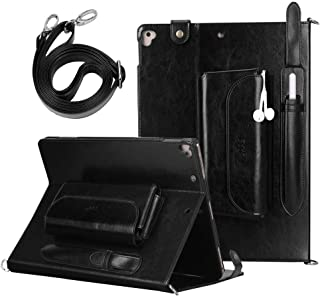 FYY Genuine Leather Case for Apple iPad Pro 12.9 inch 2017/2015, Luxurious Genuine Leather Handmade Case Protective Cover Travel Sleeve Bag for iPad Pro 12.9 (Both 2017 and 2015 Models) Black