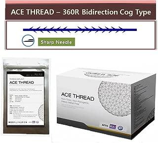 ACE PDO thread lift KOREA face/whole body - 360R Bidirection Cog Type/Sharp Needle (20pcs) (23G90)