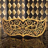 3 ft. 3 in. Black and Gold Masquerade Mask Mardi Gras Standee Standup Photo Booth Prop Background Backdrop Party Decoration Decor Scene Setter Cardboard Cutout