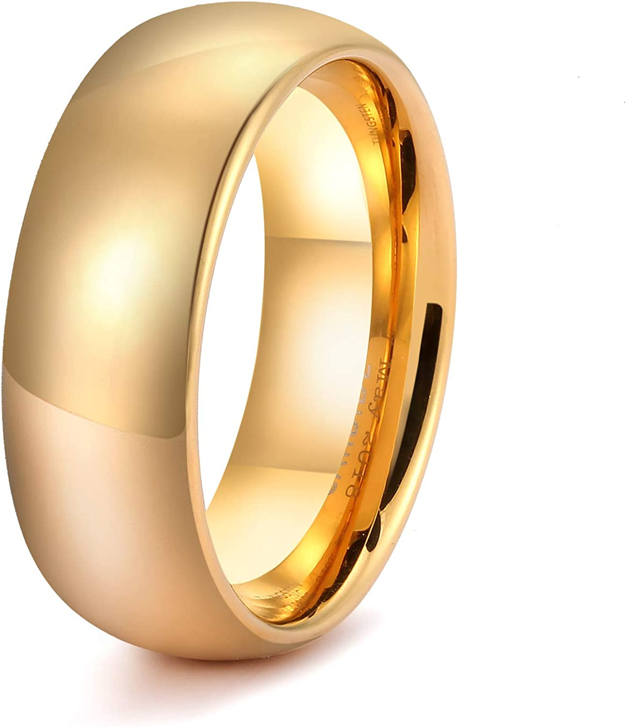 LerchPhi 6mm 8mm Gold Couple Promise Bands Engagem Popular Ranking integrated 1st place Rings Wedding