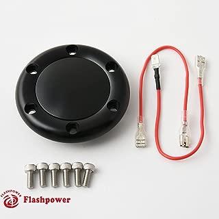 Billet Horn Button for 6 Bolt Steering Wheel Flashpower,MoMo,NRG Black Anodised