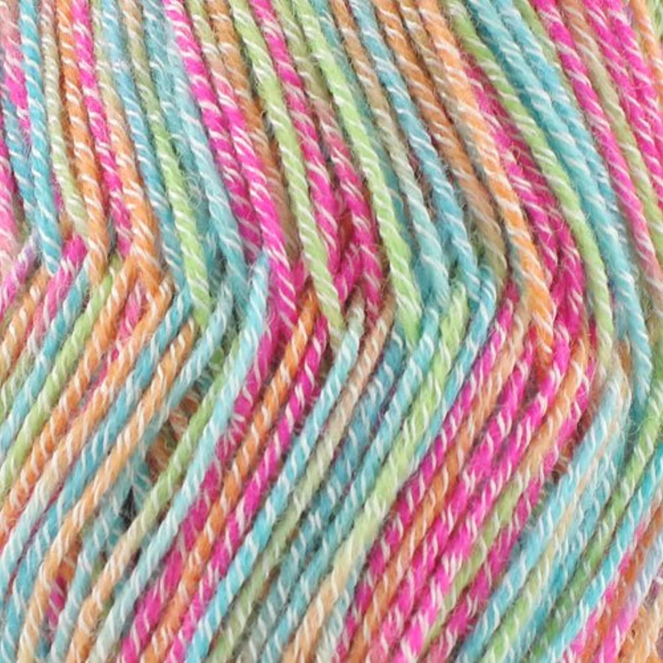 Super Fine Weight Soft and Slim Yarn Color 988 Rainbow Sprinkles - BambooMN - 2 Skeins