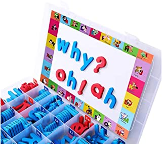 Magnetic Letters Kit, Classroom Magnets 238 Pcs with Large Double-Side Magnet Board and Storage Box, Foam Alphabet ABC Mag...