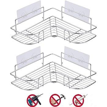 浴室 ラックFOSTERSOURCE 風呂場 ラック 棚 洗面所 強力粘着固定 三角コーナー シャンプーラック調味料収納棚 壁掛け棚 (三角ラック,2個)