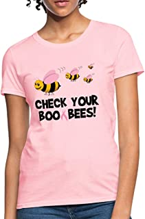 Check Your Boo Bees Breast Cancer Awareness Women's T-Shirt