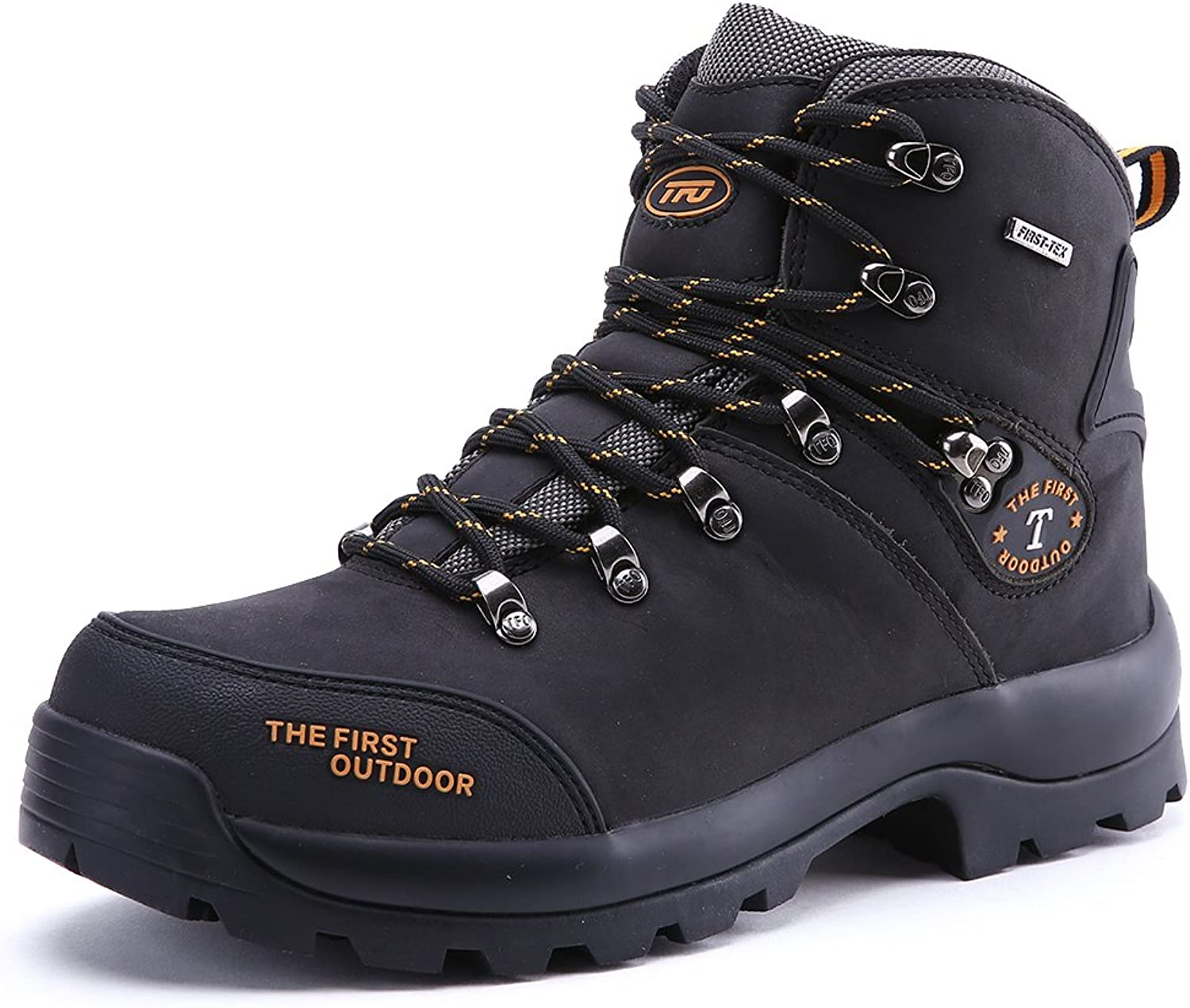 TFO Women's Waterproof Hiking Boots Trekking Outdoor Sneakers Climbing Sports Breathable shoes Black 6