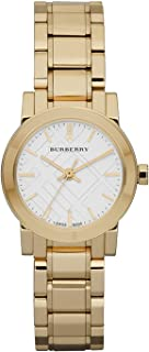 Burberry Heritage Swiss Analog Gold Plated Stainless Steel Womens Watch BU9203