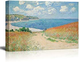 wall26 Path Through The Corn at Pourville by Claude Monet Giclee Canvas Prints Wrapped Gallery Wall Art | Stretched and Framed Ready to Hang - 32