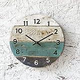 Toll2452 Pallet Legno Orologio Rotondo Reclamato Legno Orologio Beach House stile Riciclato legno invecchiato Costiera Decor Personalizza