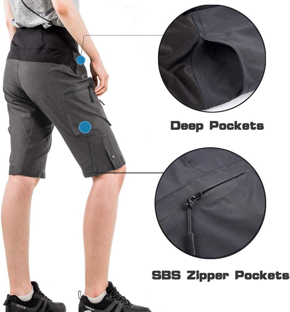 Cycorld Mens Mountain Bike Biking Shorts Loose Fit Cycling Baggy Pants with Zip Pockets Water Repellent MTB Shorts