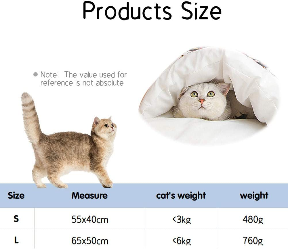 NIBESSER Cat Sleeping Bag Pet Bed for Anxiety Blue Cat,L Self Warming Cat Bed Warm Cat House Small Pet Bed Pet Nest Warm Soft Sleeping Bed Non-slip Breathable Cat House Washable