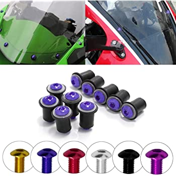 Ducati 848 1098 1198 1199 899 959 1299 SuperSport Panigale Corse V4 S R Red Windscreen Windshield Bolts Screws Kit Usa R07WS-8