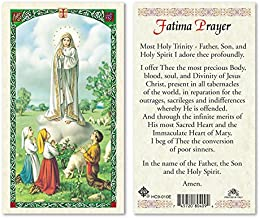 Our Lady of Fatima Laminated Prayer Cards