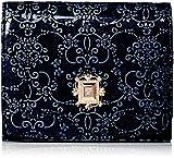アナ スイ 折り財布 【新型】二つ折りBOX財布 ルーミー ネイビー