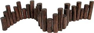 Teak Wood Uneven Top Solid Log Edging,