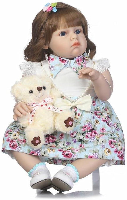 QXMEI 28 Inch 70cm Lifelike Soft Silicone Babies Reborn Baby Girl Dolls So Realistic Looking Newborn Doll Gift