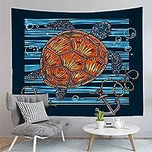 75CMX85CM 3D digitaal gedrukt schildpad muur opknoping wandtapijten cartoon wind deken achtergrond doek tapijt woonkamer d...