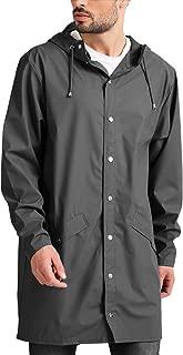 JINIDU Unisex Waterproof Rain Poncho Lightweight Packable Hiking Hooded Raincoat Jacket for Outdoor Activities