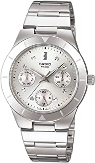 Casio Womens Quartz Watch, Analog Display and Stainless Steel Strap LTP-2083D-7AVDF