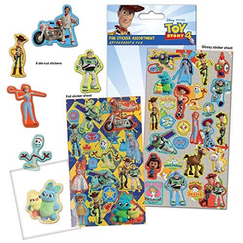 Paper Projects 9124165 Toy Story paquete de 4 pegatinas surtidas, varios