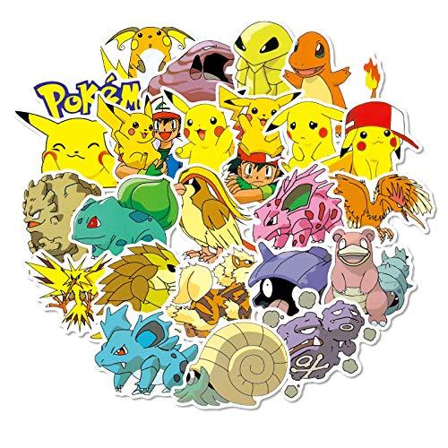 WWJIE Autocollant Pokemon Pikachu Pokémon Trolley...