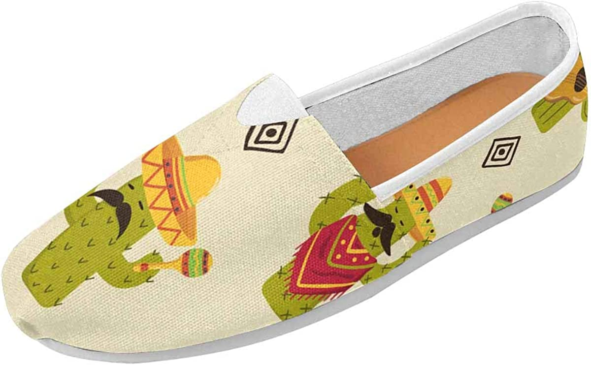 InterestPrint Mexican Cactus Classics Women's Slip On Loafer Shoes