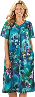 AmeriMark Lounger House Dress with Pockets for Women Muu Muu Nightgown