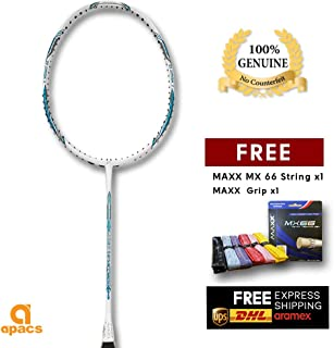 Apacs Feather Weight 55 Free Maxx Grip & String -8UG2 World Lightest Badminton Racket Flexible Flex Shaft More Power - Unstrung