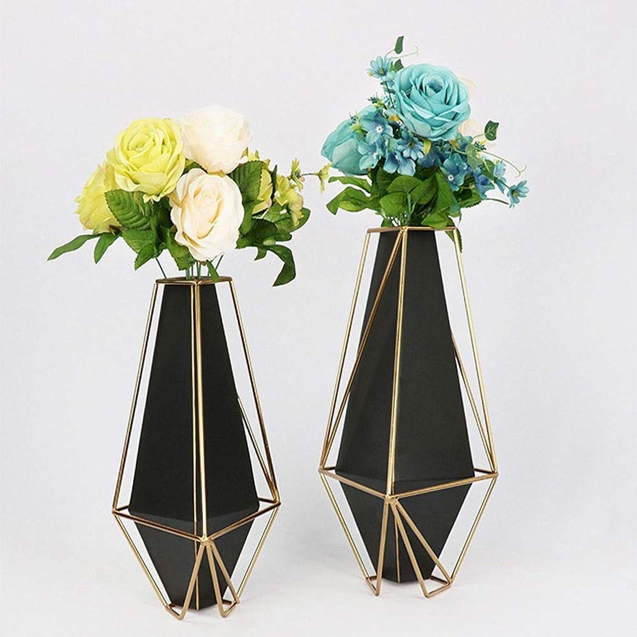 端末焦げ消化アート クリエイティブ金属花瓶補間ホテルのベッドルームには鉄のテーブルの花瓶スタイリッシュなミニマリスト北欧ホーム家具鍛造窓辺(:20 * 34cmの、L:小25 * 39センチメートル) 飾る