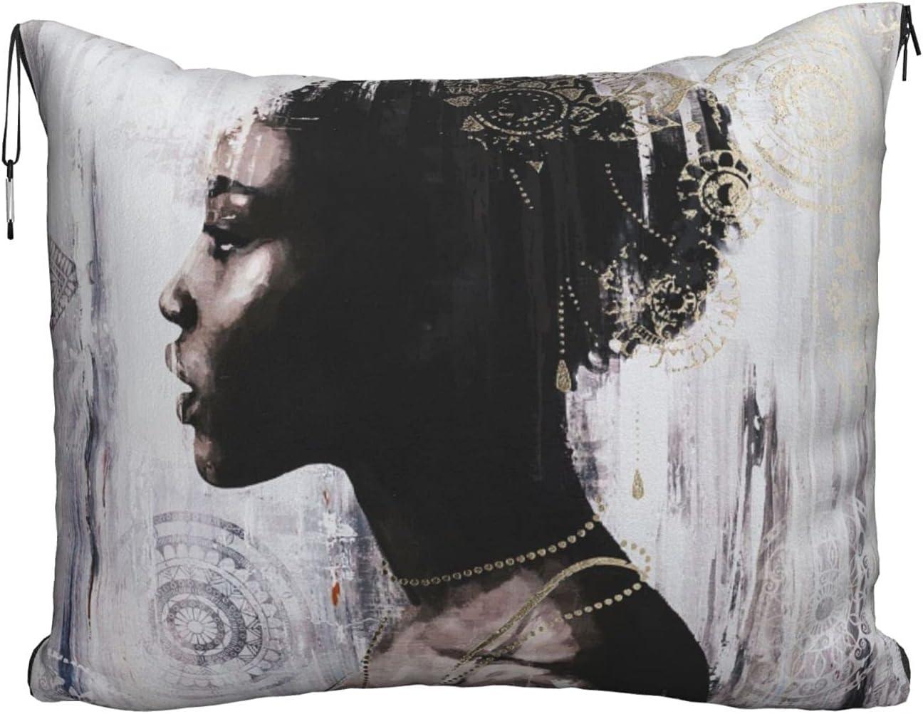 African American Art Printed trust Travel Velvet Blanket Soft Attention brand Pillow