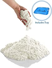 CoolSand White 5 Pound Refill Pack - Including: 5 Pounds Moldable Indoor Play Sand, Storage Bucket and Inflatable Sandbox